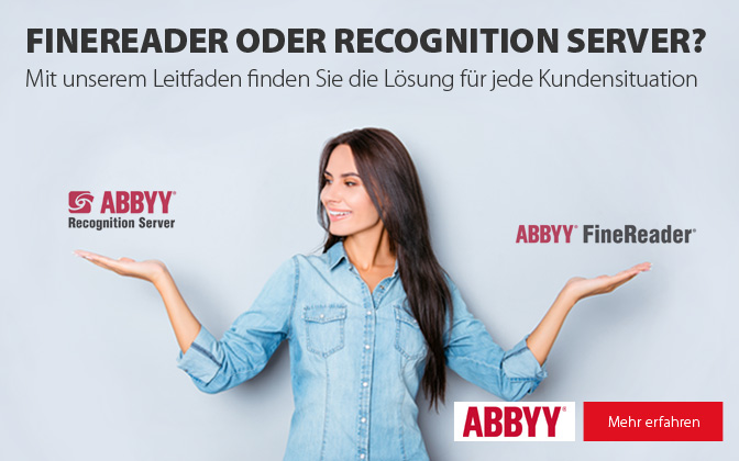 Abby Recognition Server oder FineReader?